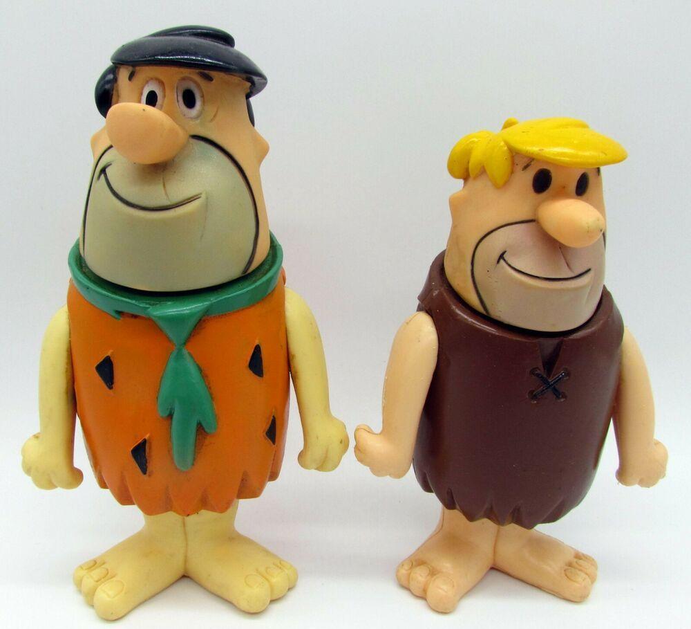 Vtg 1980 Fred Flintstone Barney Rubble Hanna Barbera Figures Dolls Large Fred Flintstone Flintstones Toy Collection