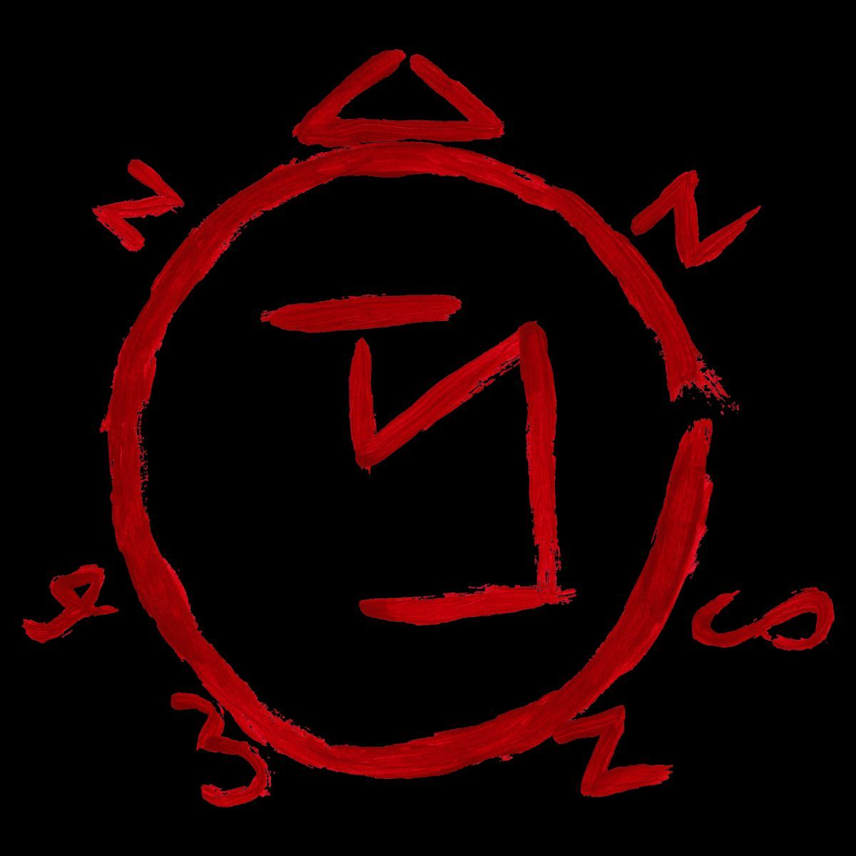 Laptop Car Window Supernatural Summons Angel Symbol Blood Sticker Vinyl Decal