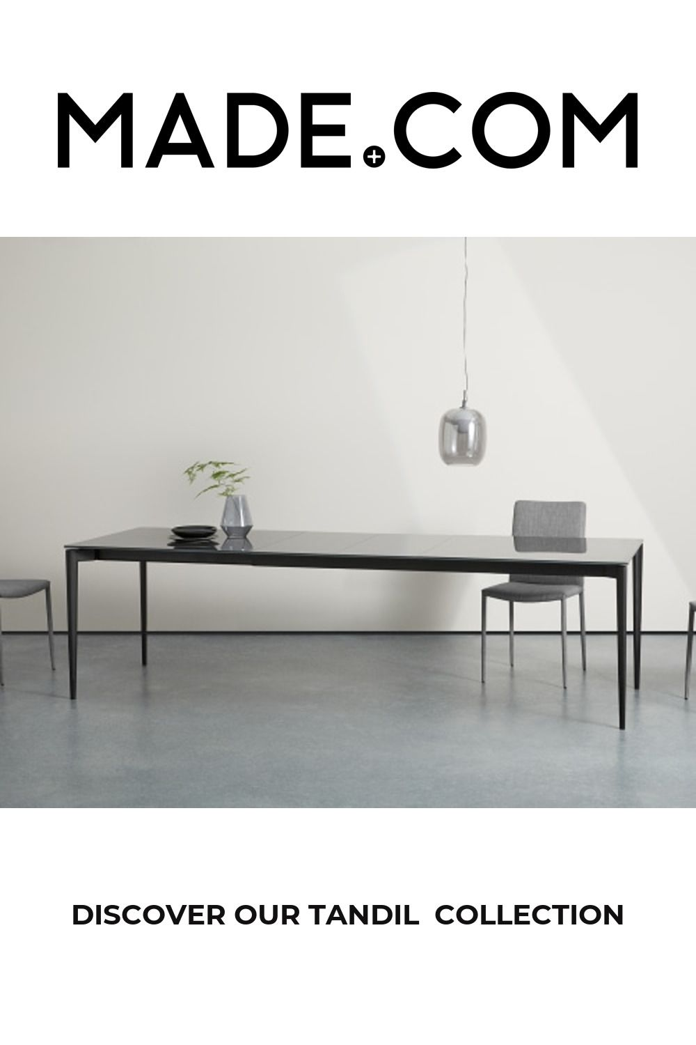 Tandil 8-12 Seat Extending Dining Table, Grey Glass