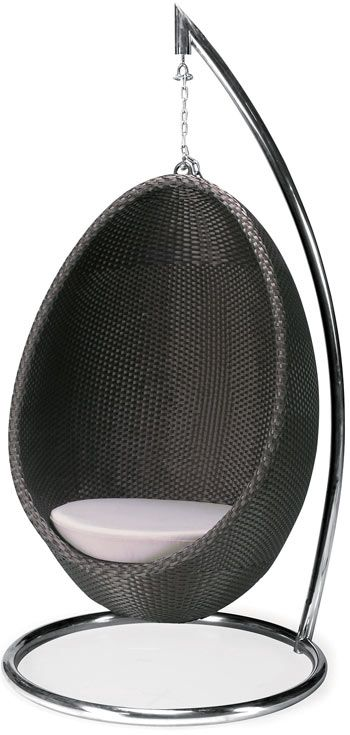 Stylish Hanging Egg Lounge Chair For The Outdoors Or PatioThe Modern Hanging  Egg Lounge Chair Is