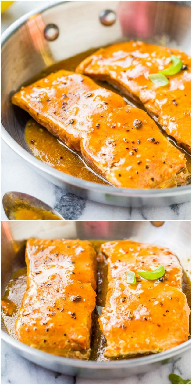 Barbeque-Glazed Salmon Maple Barbeque-Glazed Salmon - The glaze is smoky and sweet with a bit of heat & makes this 15 minute recipe just pop!The Recipe  The Recipe may refer to: