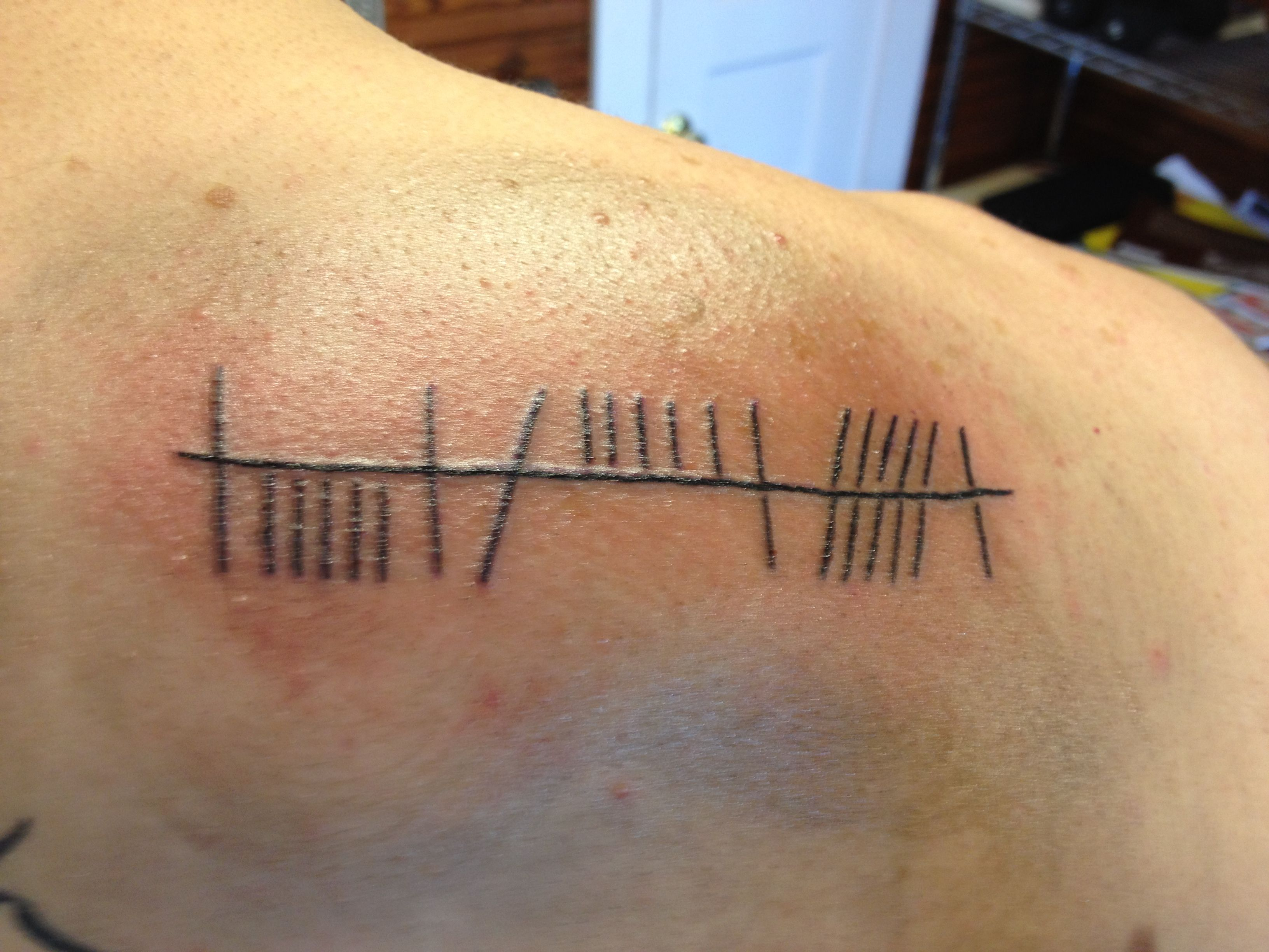 Ogham Gaelic tattoo this is kind of how I want mine, but I