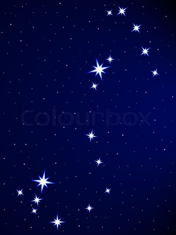 Stock vector of 'Scorpius constellation on the starry sky ...