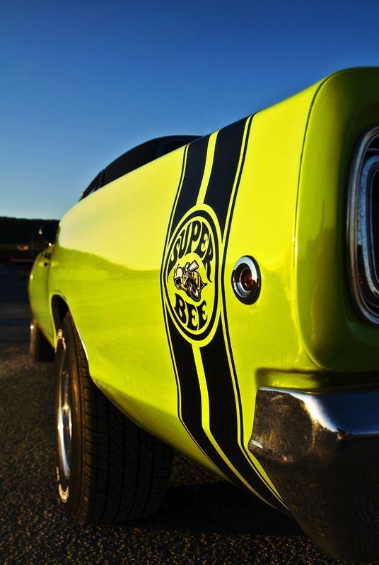 1968 Dodge Super Bee, Bumble Bee Stripe MOPAR Cars Dodge