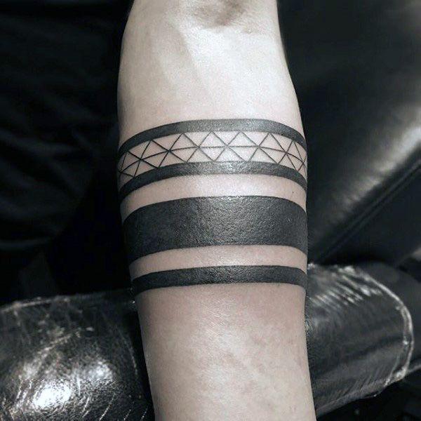 Maori Lower Arm Band Tattoo: 50 Black Band Tattoo Designs For Men