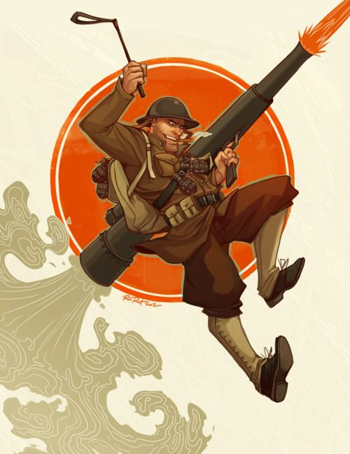 1920s #TF2 Soldier by Ramida-R