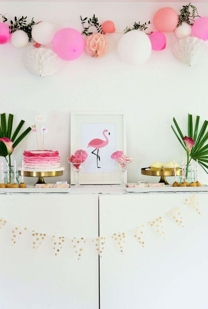 Flamingo Party Diy Deko Ideen Beach Ideas Party Kid Flamingo
