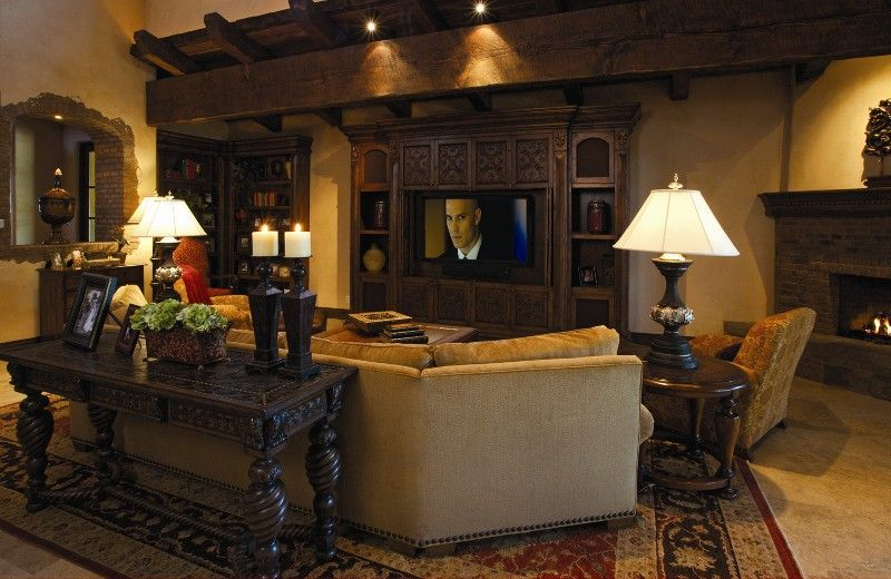 tuscan decorating style family rooms Tuscan-style Villa Gets Tech