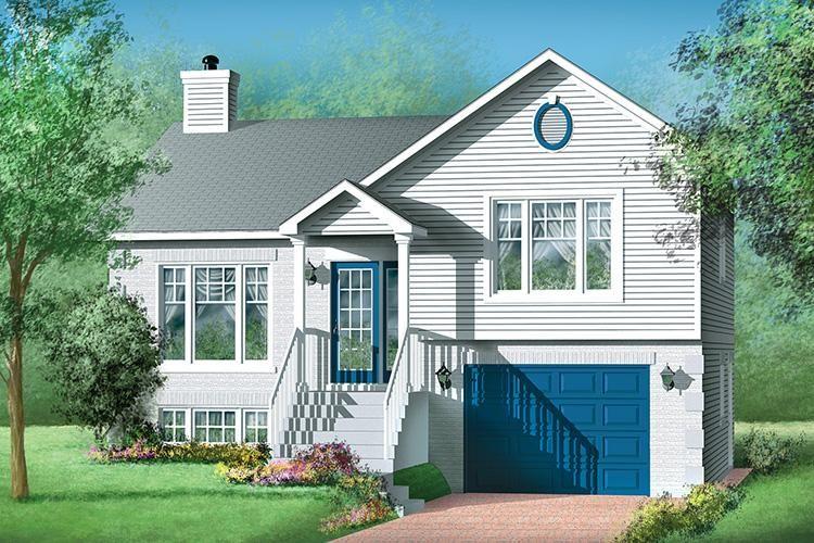 House Plan 2559 00204 Narrow Lot Plan 1 203 Square Feet 2 Bedrooms 2 Bathrooms Ranch House Plans House Plans Ranch House Plan