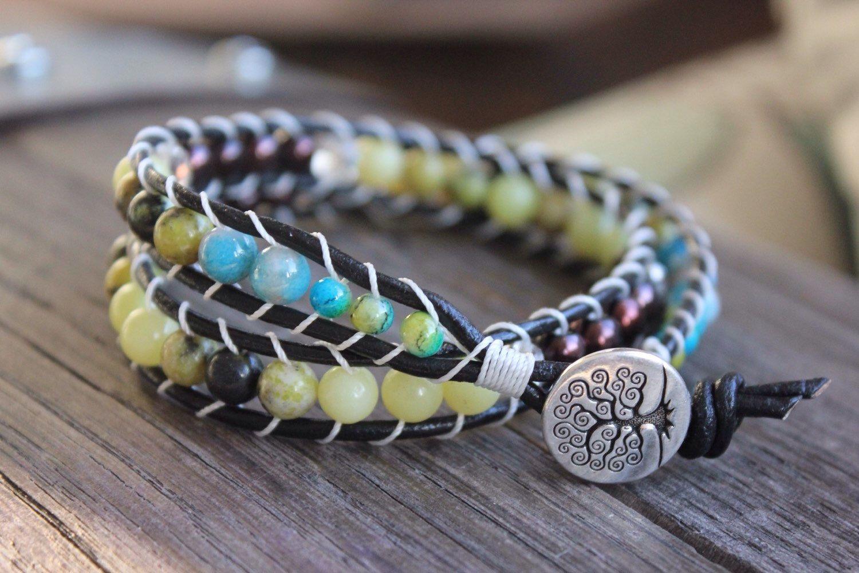 A personal favorite from my Etsy shop https://www.etsy.com/listing/229418959/wrap-bracelet-beaded-bracelet-tree-if