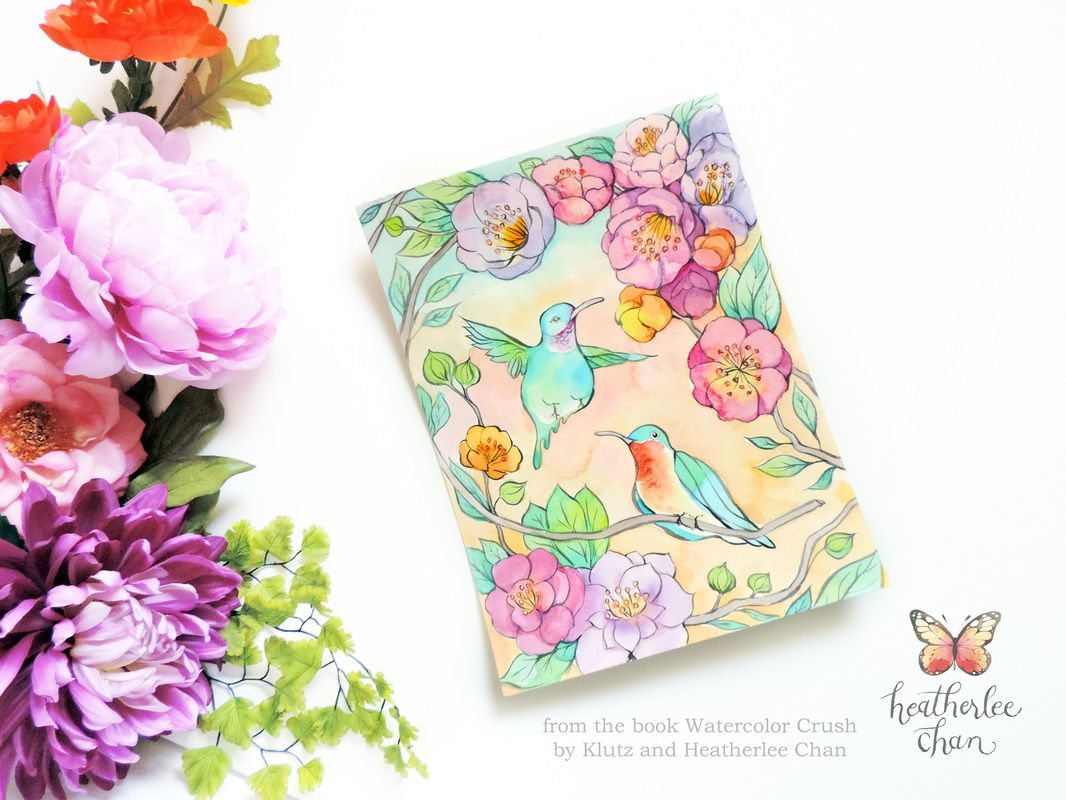 Watercolor books for kids - Watercolor Crush A Watercolor Coloring Book By Klutz And Illustrations By Heatherlee Chan