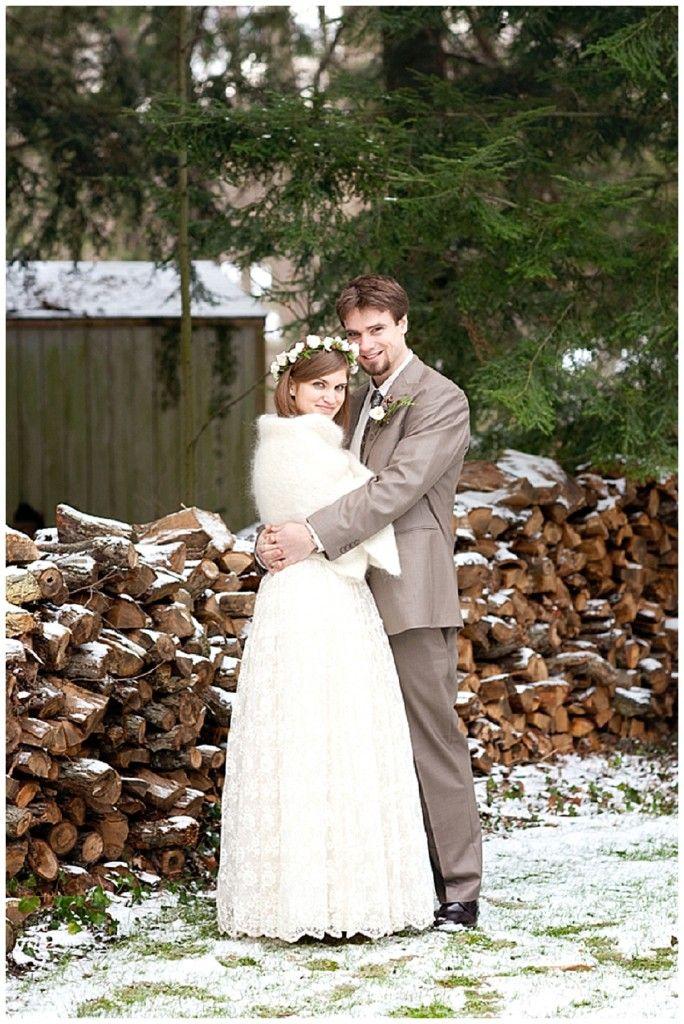A Rustic Vintage Winter Wedding