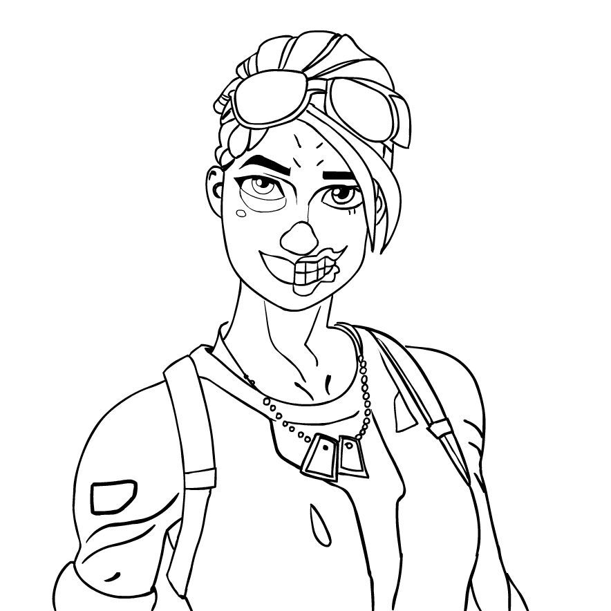 Fortnite Ghoul Trooper Coloring Page Ghoul Trooper Bear Coloring Pages Coloring Pages
