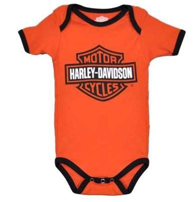 3dc9a7f3b0bb Harley-Davidson Baby Mommy    Me B  S Harley Baby On Board Orange ...