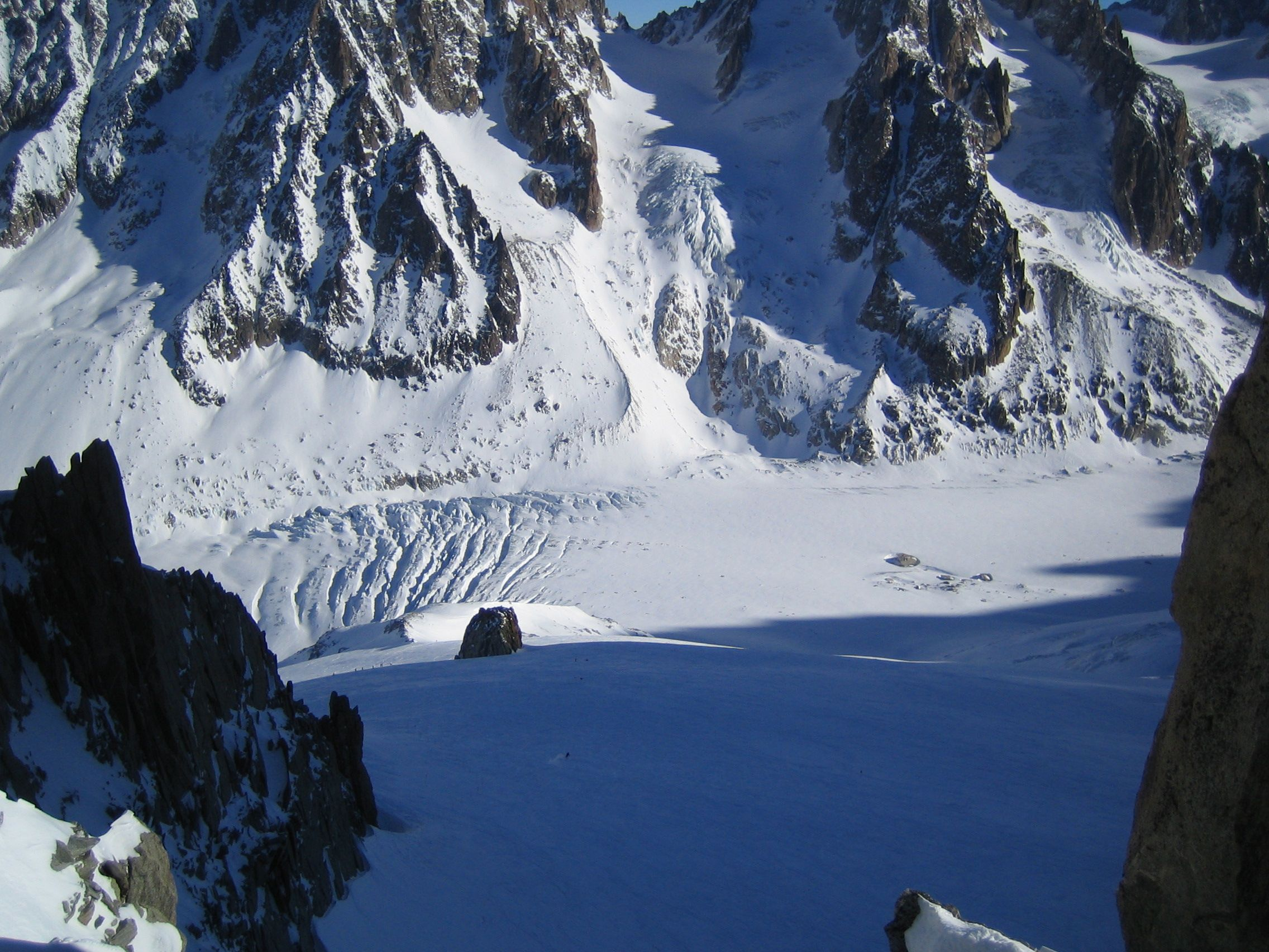 The Top Of The Grand Montets Ski Run At 3295m Chamonix Montagnes Vallee
