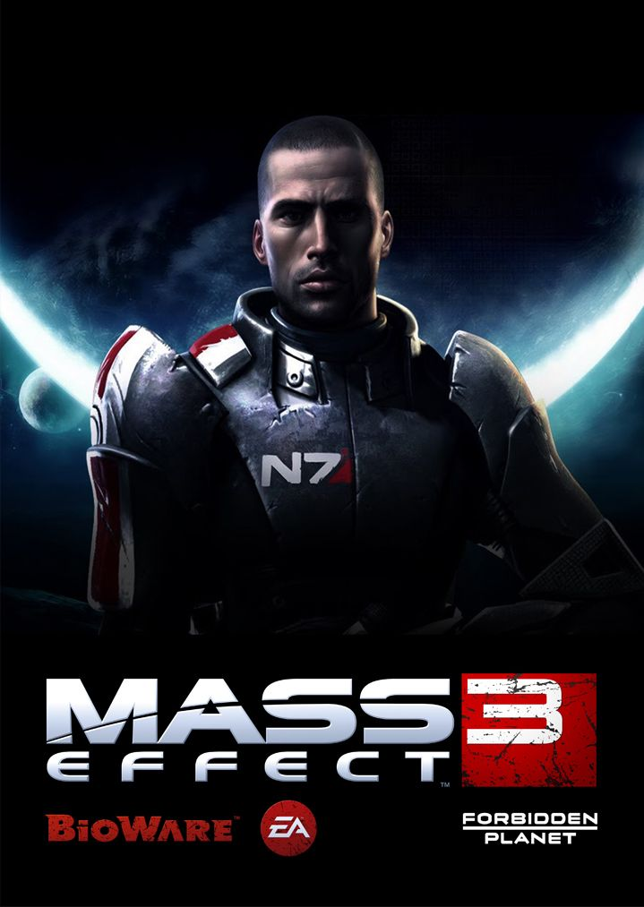 Mass Effect 3 poster designed for Forbidden Planet.