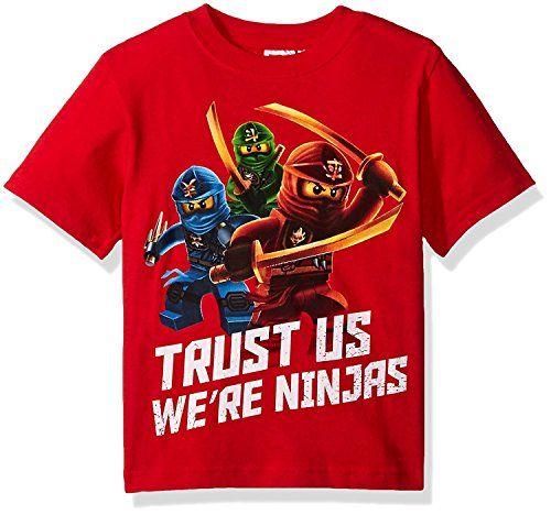 lego ninjago boys' trust us we're ninjas tshirt red 8 is
