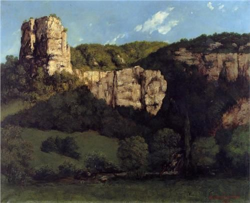 Gustave Courbet: Landscape Bald Rock in the Valley of Ornans, 1864