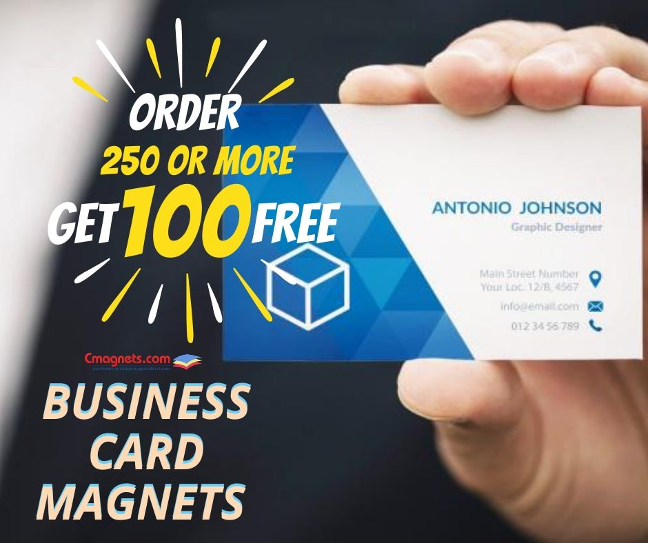 Get 100 Magnets Free When You Order 250 Numbers Or More Check Out Our Limited Time Offer That Is Applicab Magnetic Business Cards Free Business Cards Business