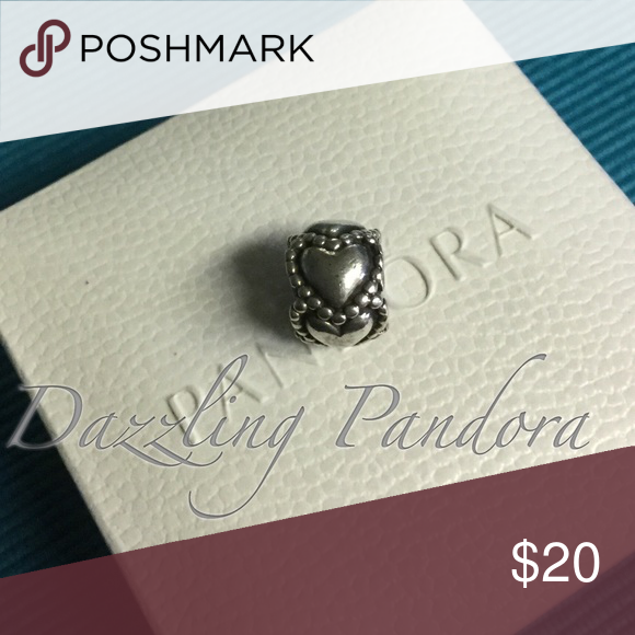Pandora Everlasting Love Authentic and in Excellent condition. Hard box sold separately $3 Pandora Jewelry Bracelets
