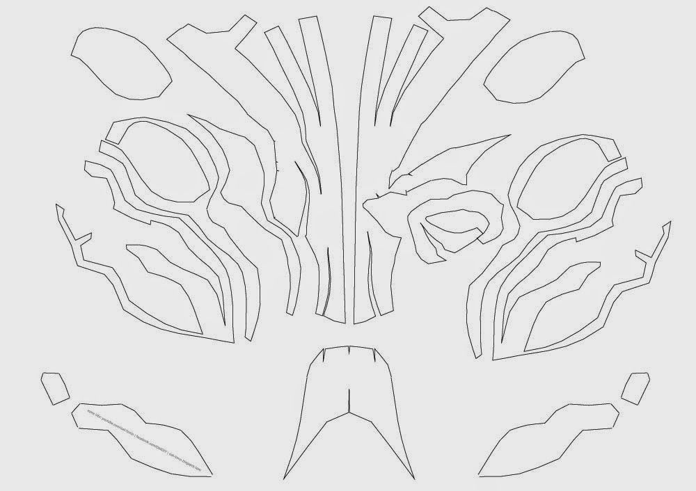 Deathstroke Costume Mask DIY Cardboard (free PDF template) | Basteln ...