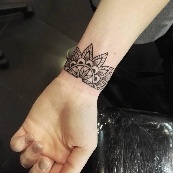 Mandala wrist tattoo on TattooChiefcom Wrist tattoos