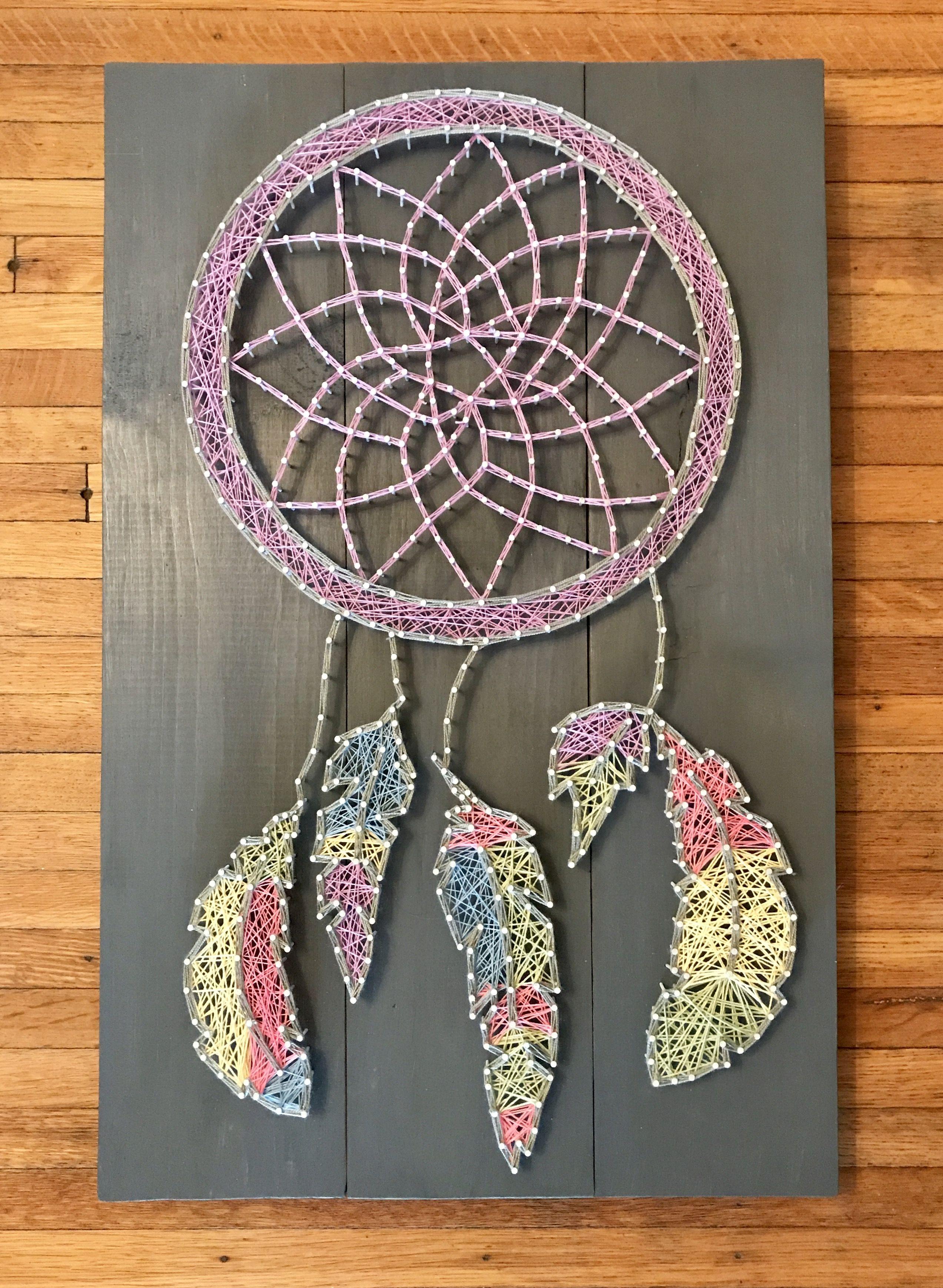 Dreamcatcher String Art | String Art | Pinterest | String art, Nail ...