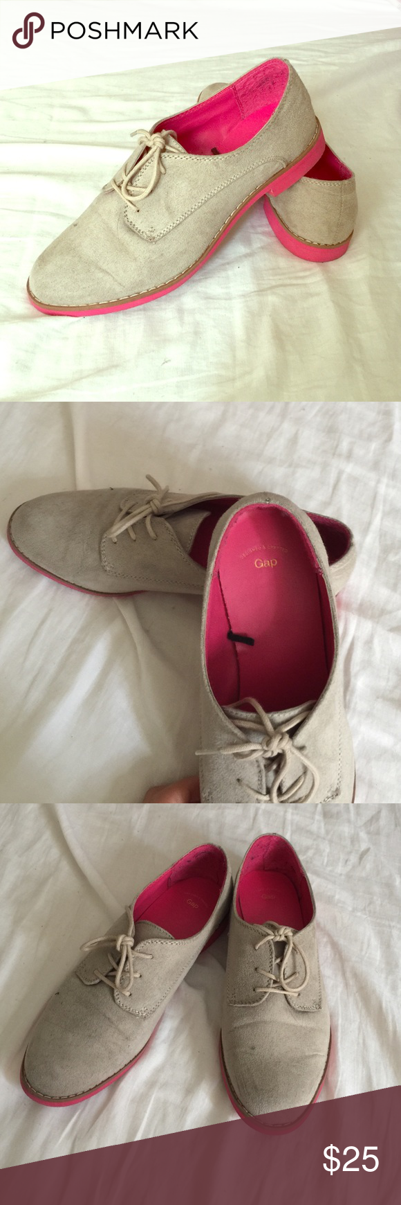 Pink dress shoes for ladies  Pink and Grey  Ladies dress shoe  Gap shoes Gray lady and