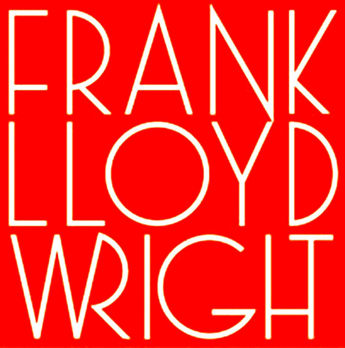 Wg West Coast Font: Frank Lloyd Wright, Logo.