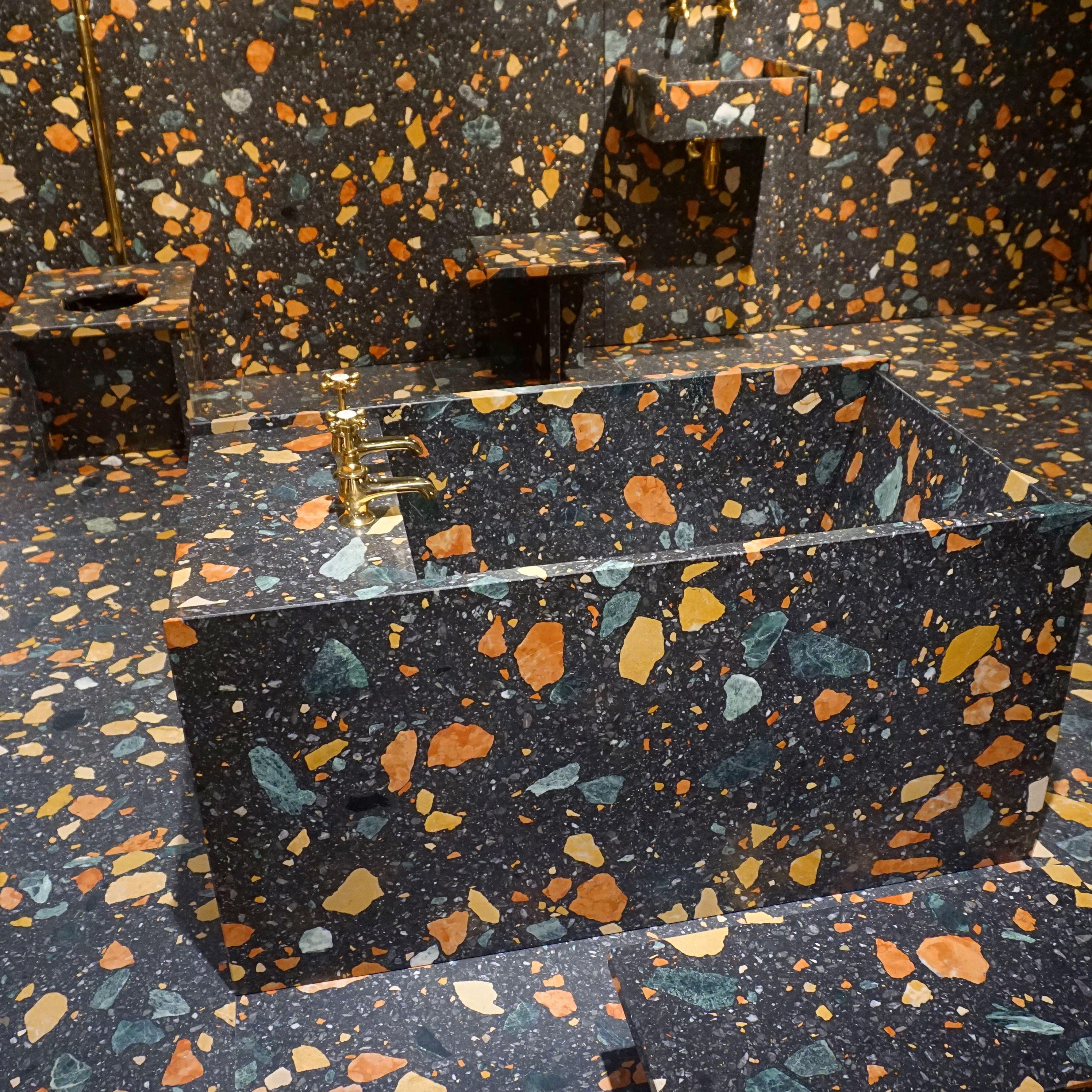 Max Lamb created a wet bathroom using Dzek's
