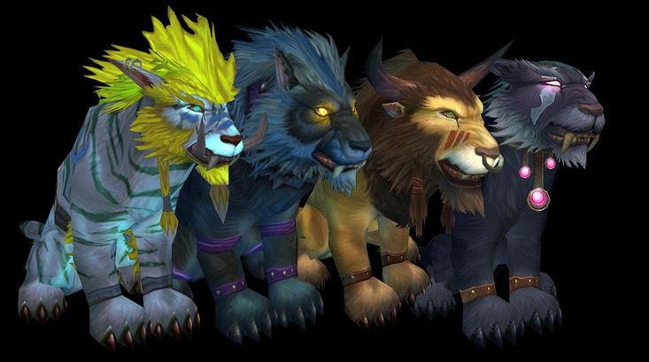 Druid cat forms for Troll, Worgen, Tauren, and Night Elf :D ...