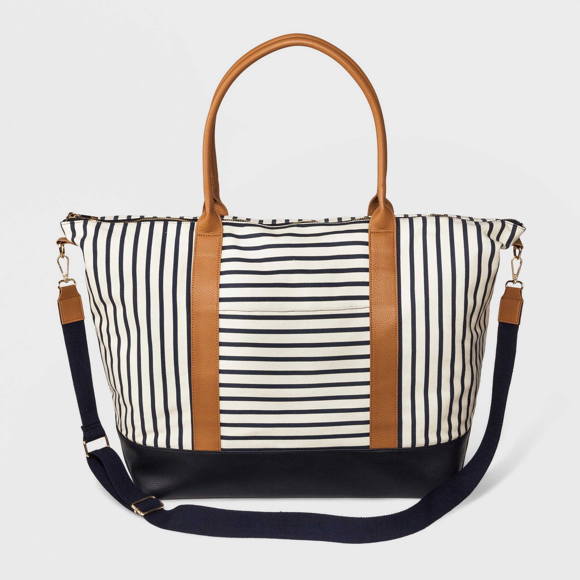 52f02ed3397 Women's Striped Canvas Weekender Bag - A New Day Striped Floral ...