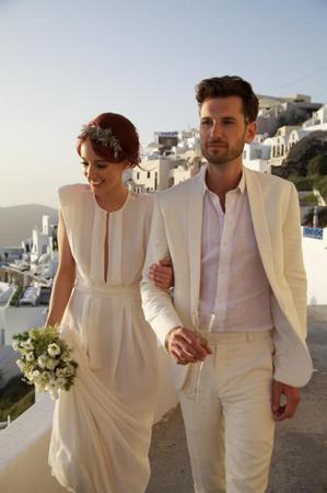 Intimate Santorini Wedding Once Wed