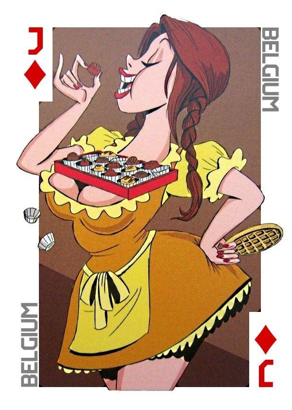 Супер секси девушки на игральных картах
