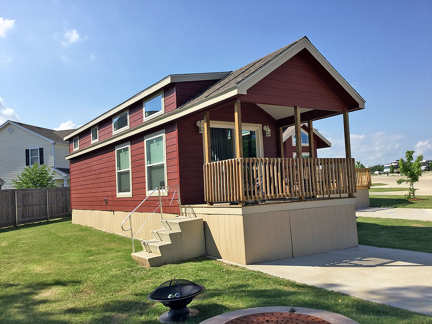 Our Private Rental Cabins Each Offer A Comfortable Living Room Sleeper Sofa And A Full Size Kitchen Makin Oklahoma Cabin Rentals Cabin Rentals Oklahoma Cabins