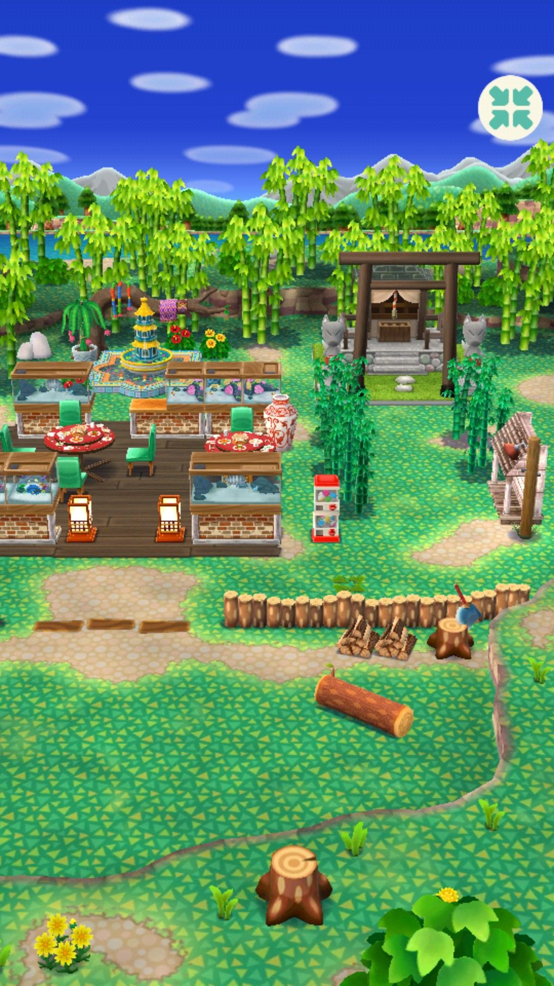 Animal Crossing Pocket Camp Restaurant 3.0 1/2 Animal
