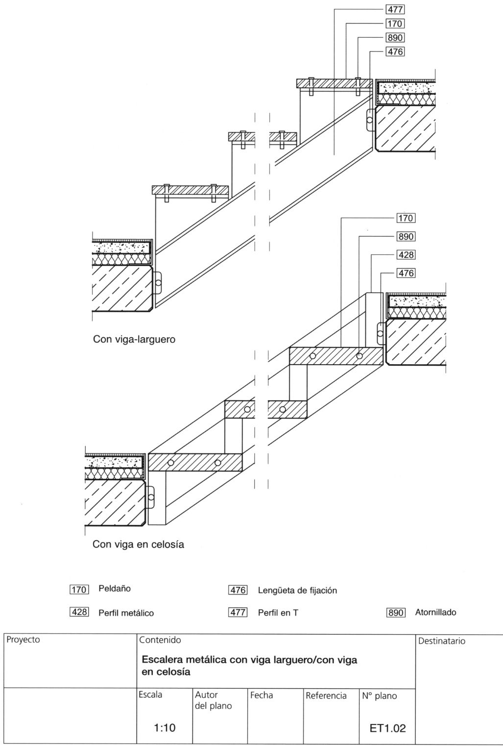 M rmoles areniscas calizas pizarras yesos escayolas for Escaleras metalicas planos