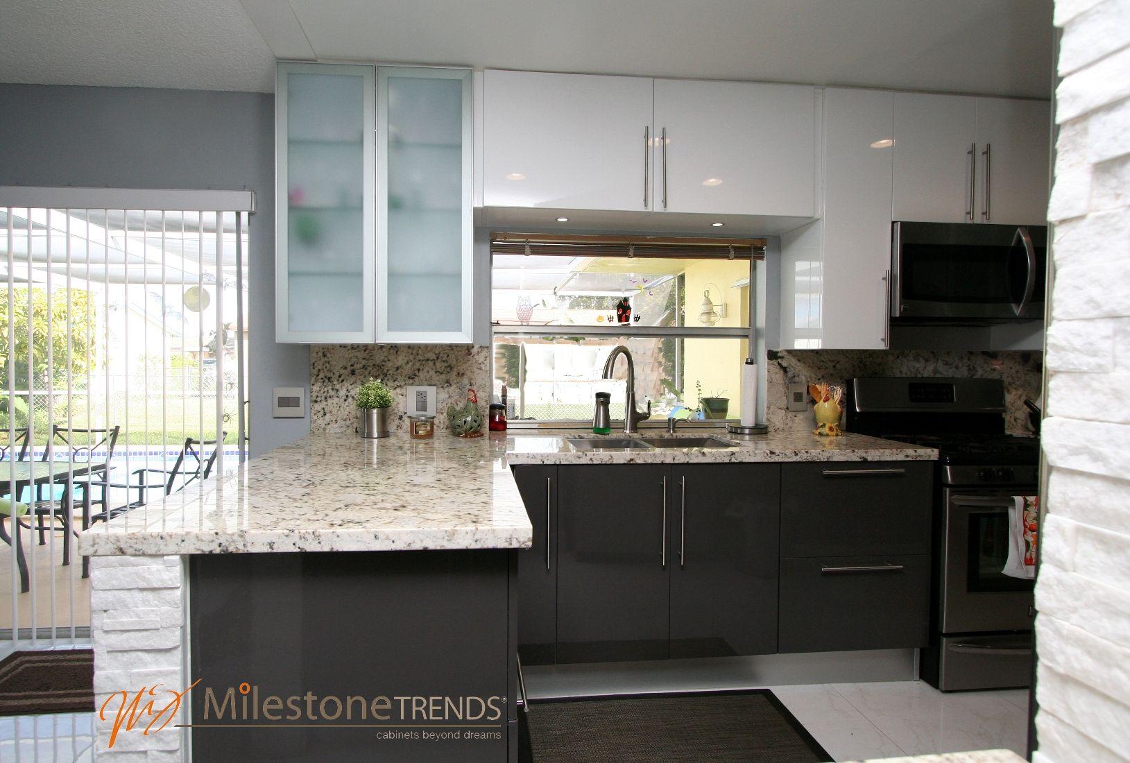 Glossy White And Graphite House In Sunrise Fl New Kitchen Kitchen Cabinets Home Decor
