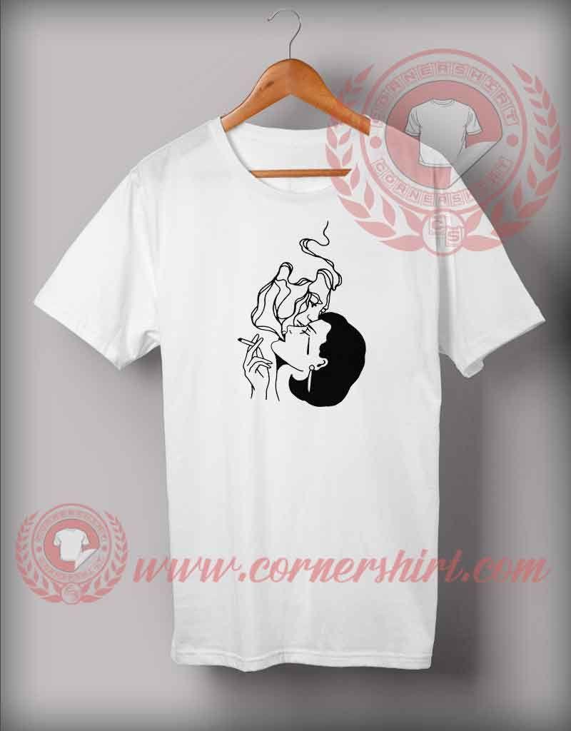 Women Smoke Imagination T Shirt Cheap Custom T Shirts By
