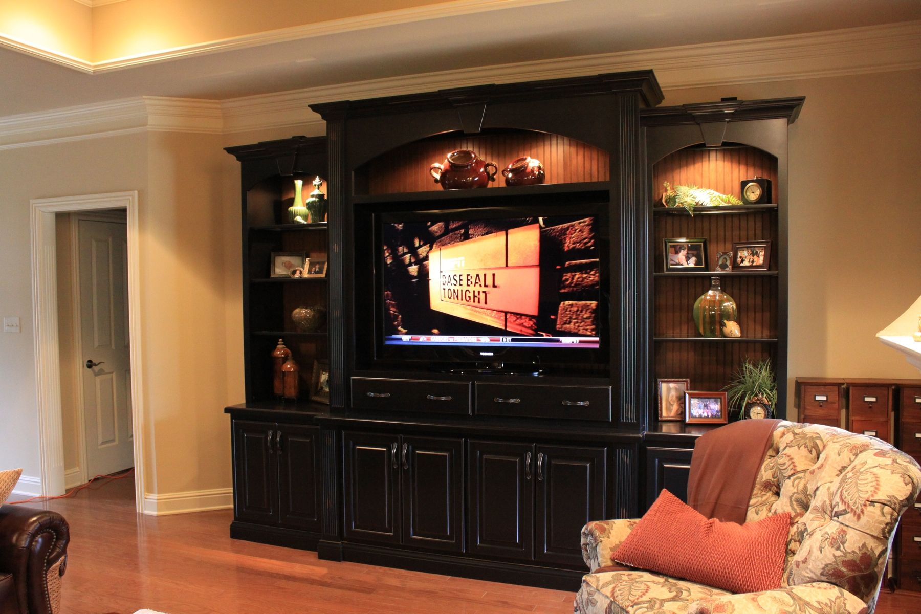 Fascintng Black Entertainment Center Cabinets In Family