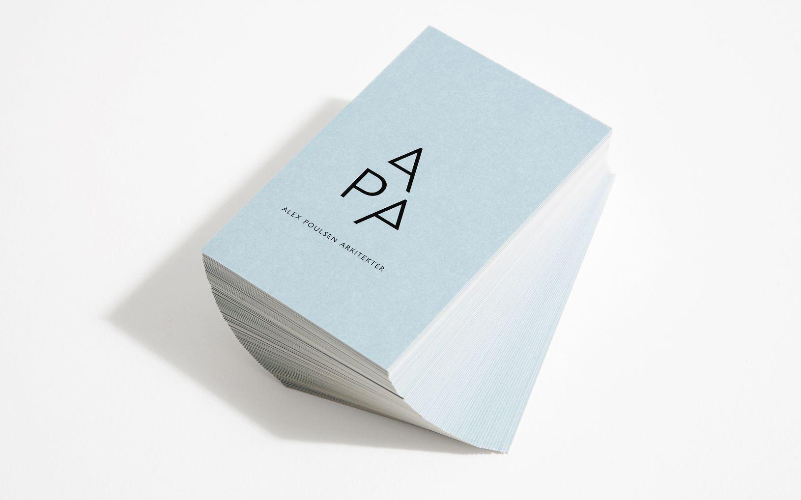 Alex Poulsen Architects business cards / Branding by Re-public a ...