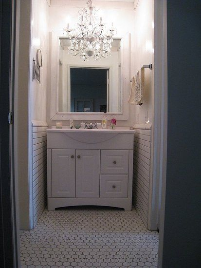 Decor inspiration chandeliers in the bathroom small bathroom decor inspiration chandeliers in the bathroom yes missy a lifestyle blog aloadofball Gallery