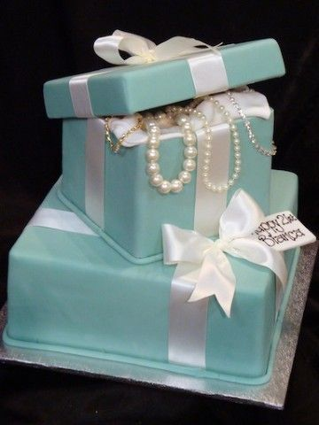 Surprising Tiffany Birthday Cake I Would Love This For My 30Th Birthday Funny Birthday Cards Online Overcheapnameinfo