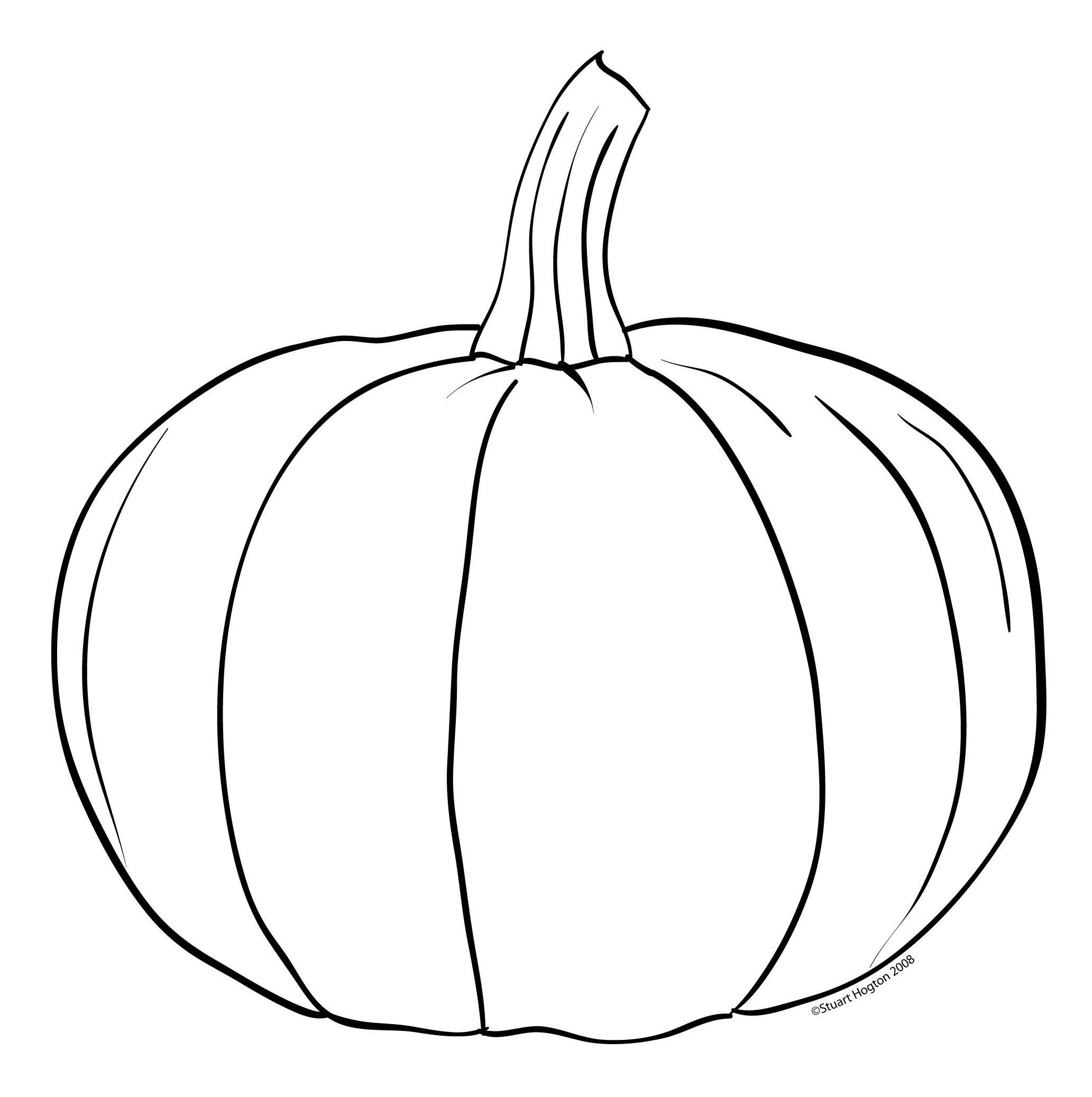 Pumpkin Coloring Template Pumpkin Template Pumpkin Template Printable