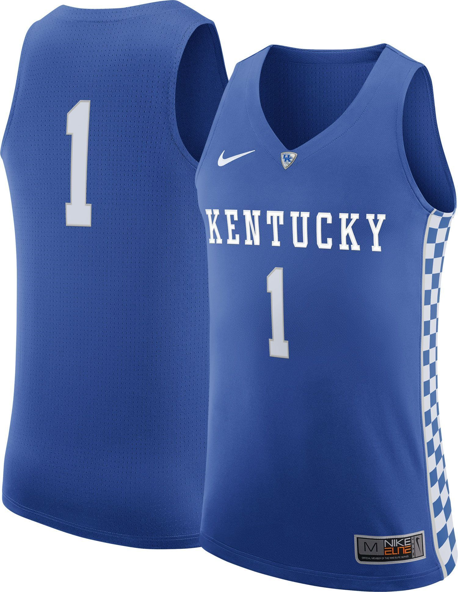 check out 6fc55 5b2ad Nike Men's Kentucky Wildcats #1 Blue Authentic Elite ...