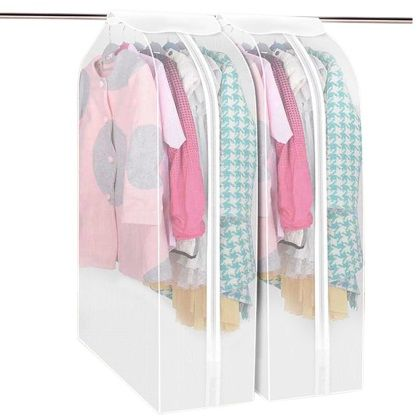 Thicken PEVA Hang Dustproof Clothes Storage Bag Frosted Washable Garment  Suit Coat Dust Cover 60*