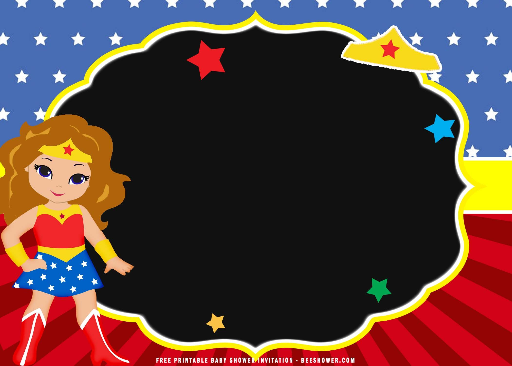 Awesome (FREE Printable) Chibi Wonder Woman Birthday I