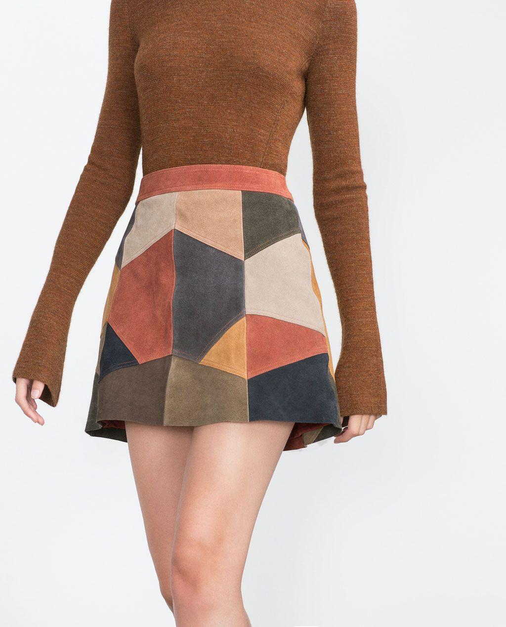PATCHWORK SKIRT-Skirts-TRF | ZARA United States | Zara | Pinterest ...