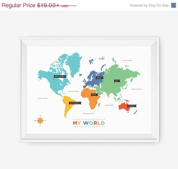 Sale 20 off world map art for nursery world map poster by loopzart sale 20 off world map art for nursery world map poster by loopzart 1520 gumiabroncs Image collections