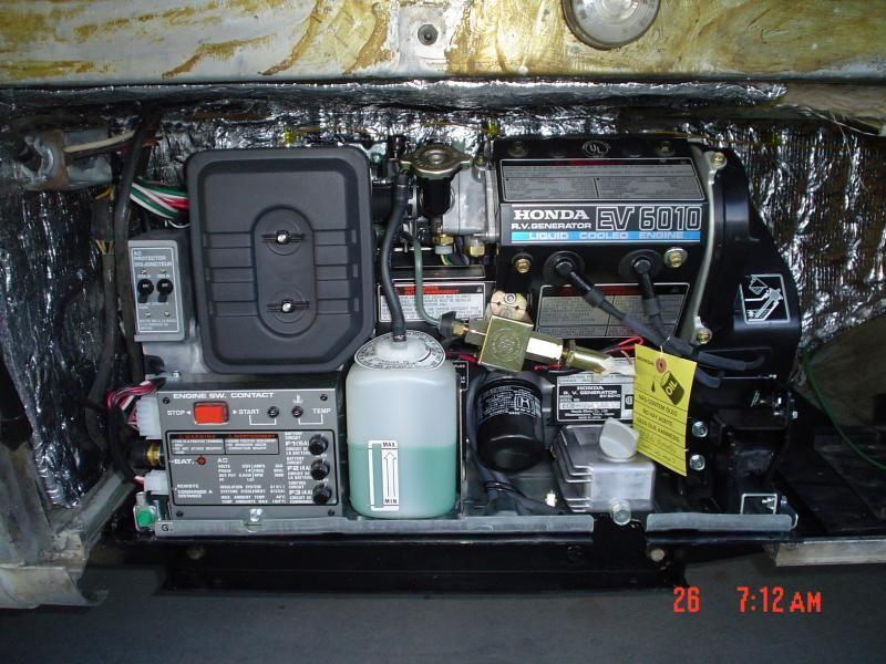 New Honda Generator Installation